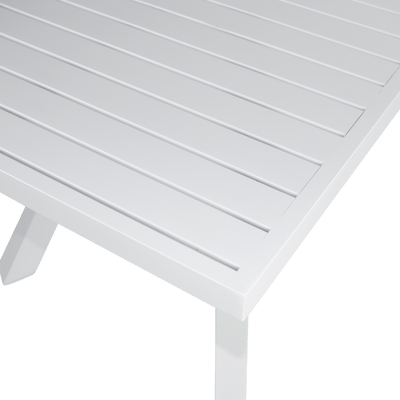 Morocco Side Table in White Aluminium Frame