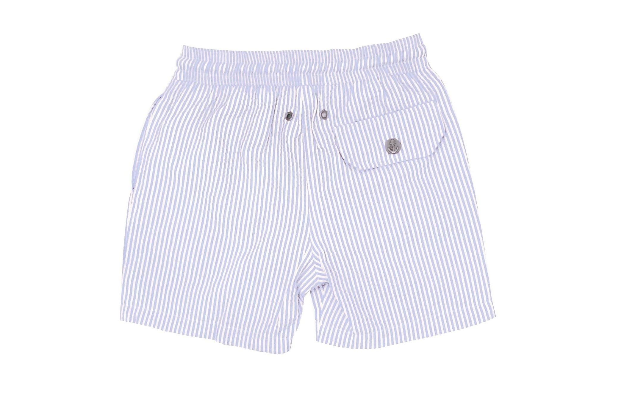 Swimwear Trunk Seer Sucker Light Grey Hybrid