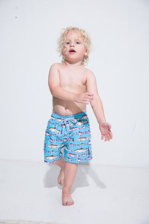 Pastel Aquarium Kids Swim Trunk