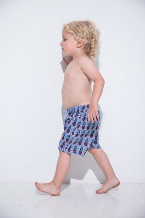 Polka Pineapples Kids Swim Trunk