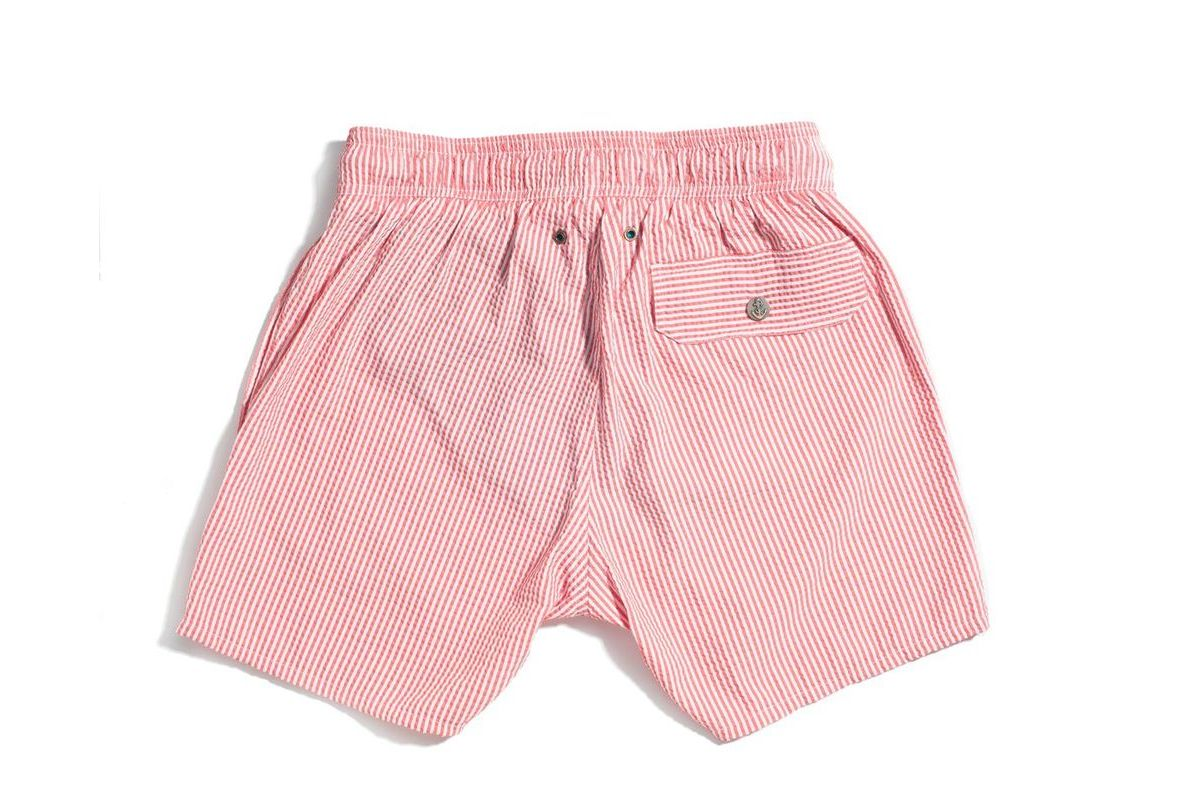 Red Hybrid Luxury Swimwear Trunks for kids