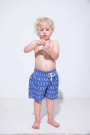 Retro CDs Kids Swim Trunk
