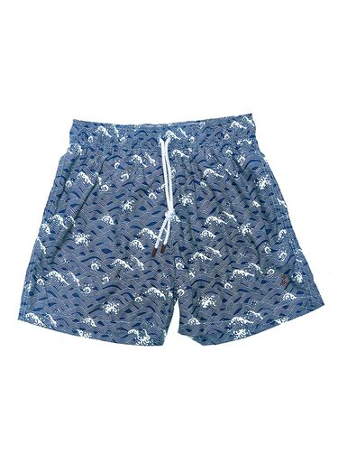 Kids - Japanese Waves Dark Blue