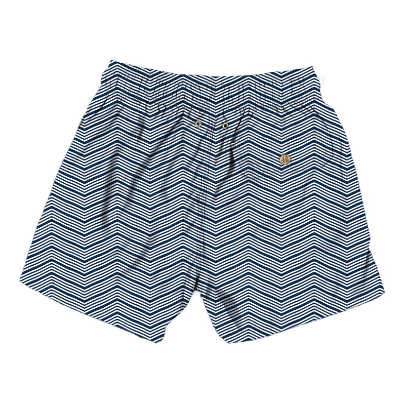 groovy lines - Retromarine - Mens Swim Trunk