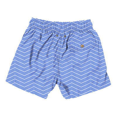 groovy lines blue - Retromarine - Mens Swim Trunk