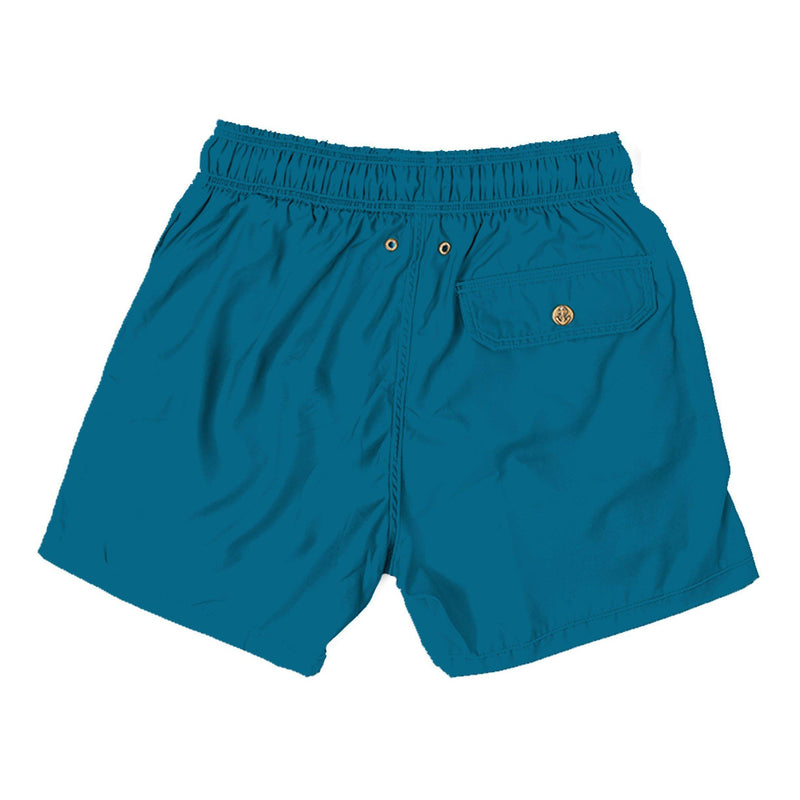 teal - Retromarine - Mens Swim Trunk