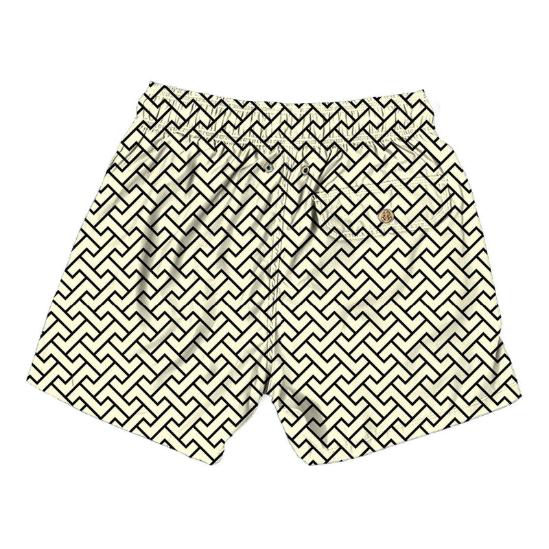 zig zag cream - Retromarine - Mens Swim Trunk
