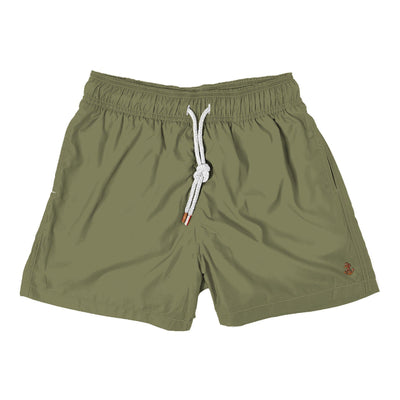 solid army green - Retromarine - Mens Swim Trunk
