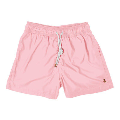 solid pink - Retromarine - Mens Swim Trunk