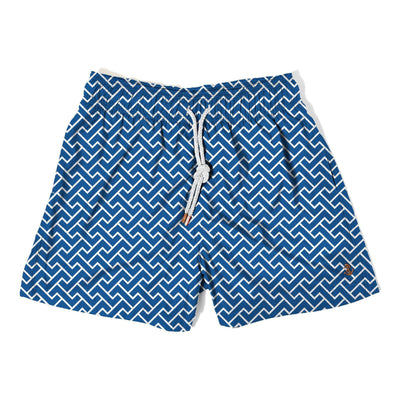 zig zag navy - Retromarine - Mens Swim Trunk
