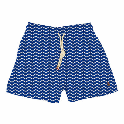 geometric blue waves - Retromarine - Men's Swim Trunks