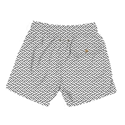 zig zags white - Retromarine - Mens Swim Trunk