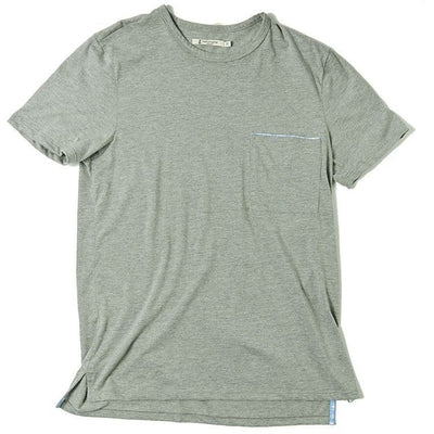 Round Neck T-Shirts - Pocket - Retromarine
