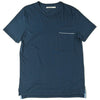 Round Neck T-ShirtsRound Neck T-Shirts - Pocket - Retromarine