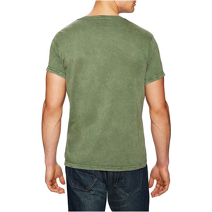 Power Wash V Neck in Olive