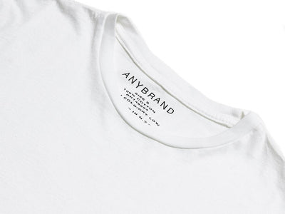 Luxury Crew in White-Big Logo