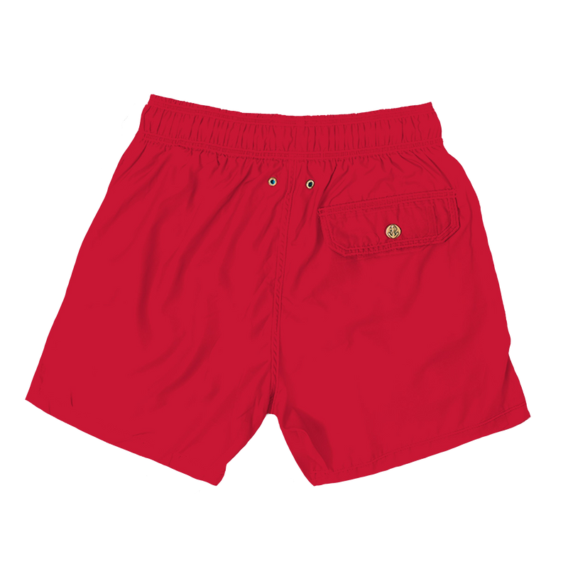 baywatch red - retromarine - mens swim trunks