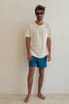teal blue - mens swim trunks - retromarine