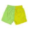 colorblock - lime green mens swimwear - retromarine