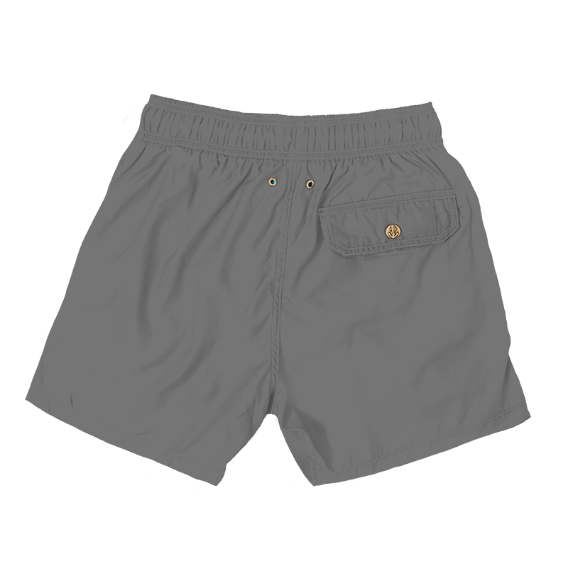 elegant grey - mens swim trunks - retromarine
