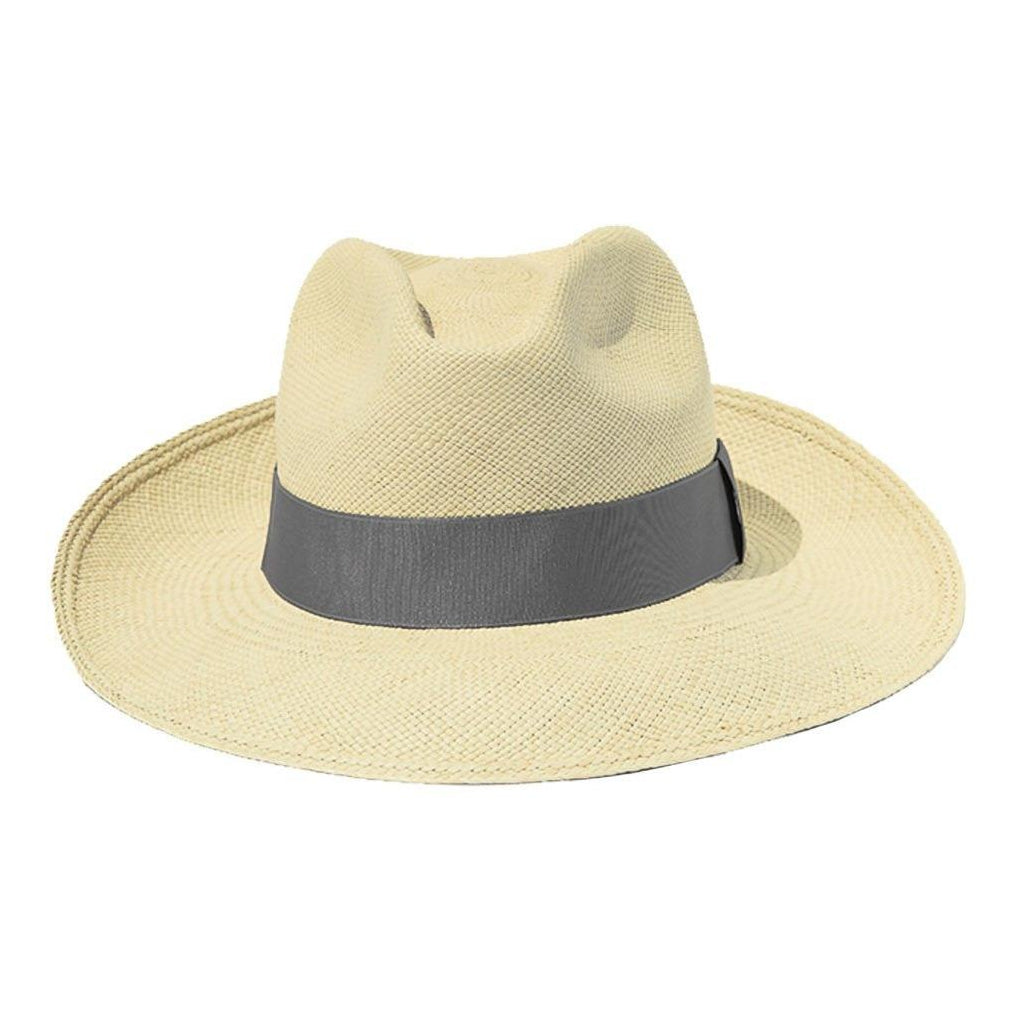 Grey Panama Straw Hat Artesano