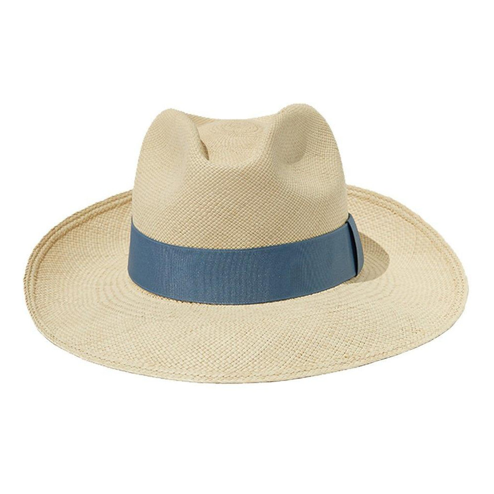 Light Blue Panama Straw Hat Artesano