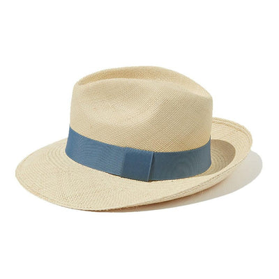 Light Blue Panama Hat Artesano Retromarine