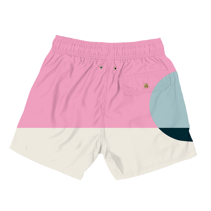 pink sunset mens swimwear - retromarine