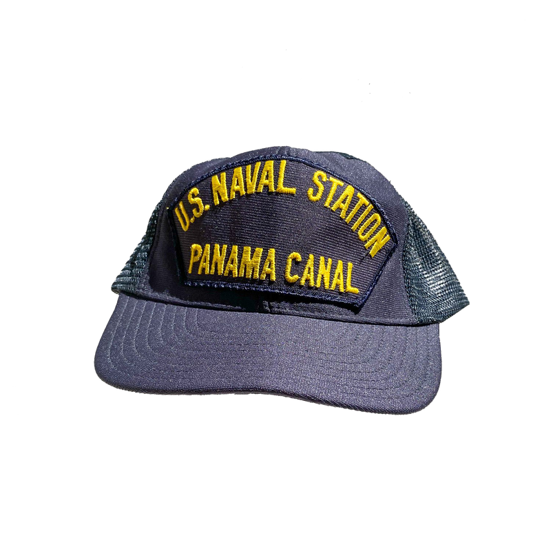 Vintage U.S. Naval Station Panama Canal Navy Hat