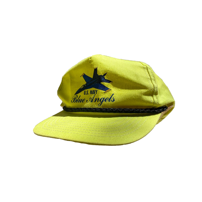 Vintage Blue Angels U.S. Navy Neon Hat
