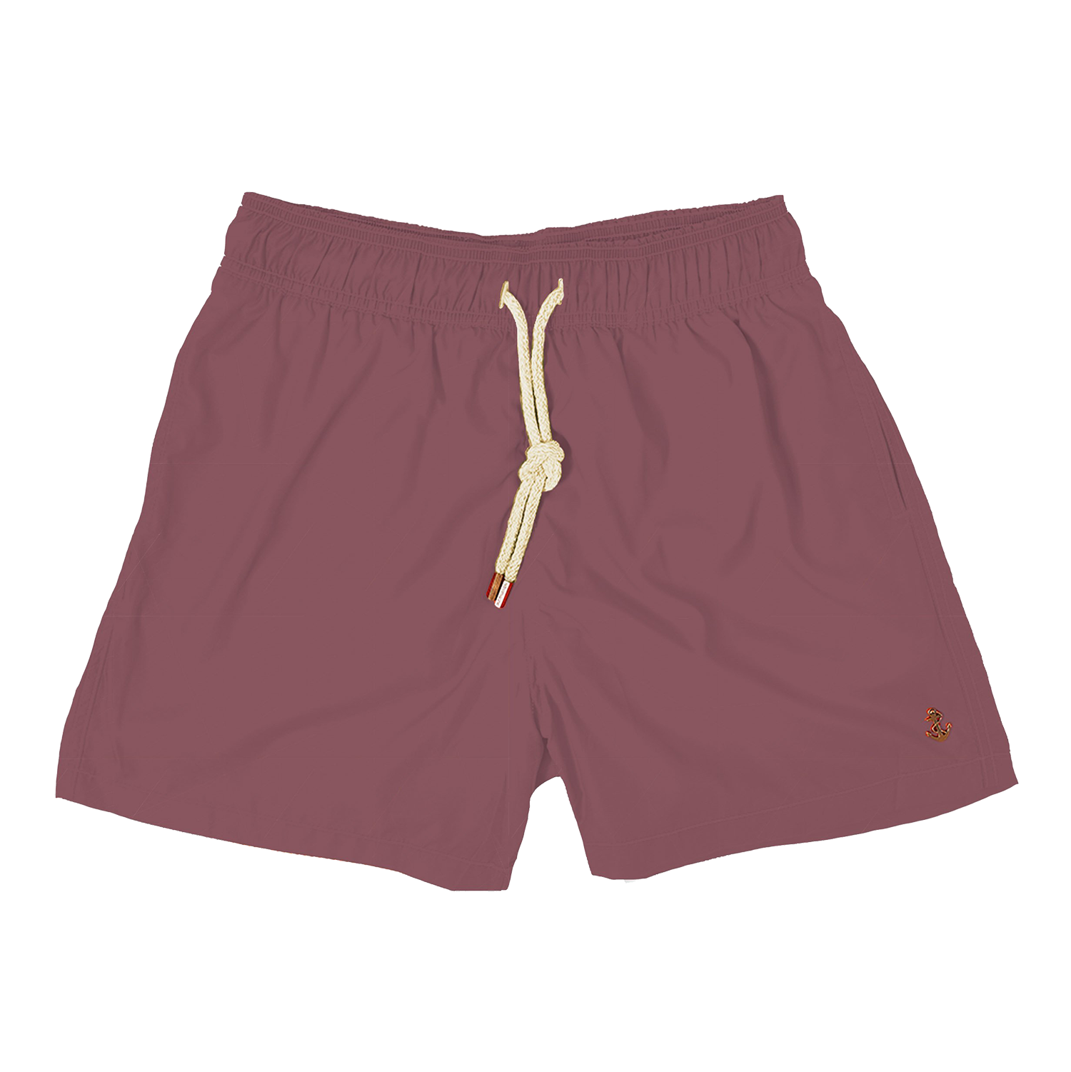 washed burgundy mens swimwear - retromarine