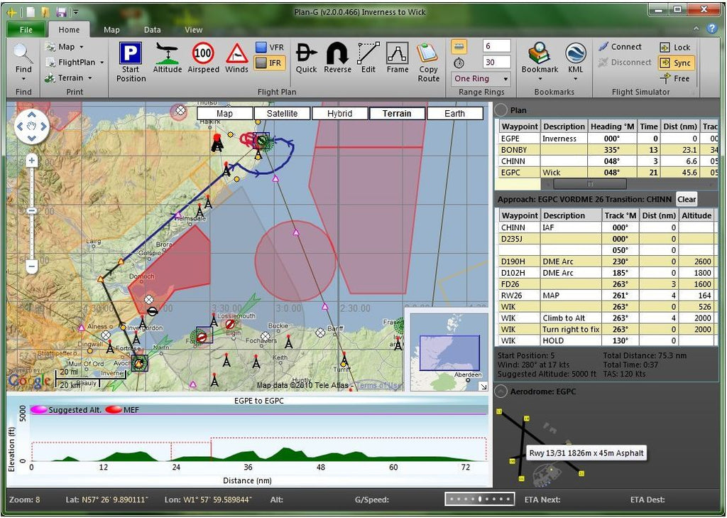 Software ideale per voli VFR. Gratis.
