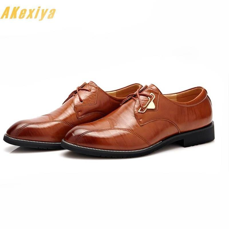 Designer Men spring pointed lace-up Oxford Shoes