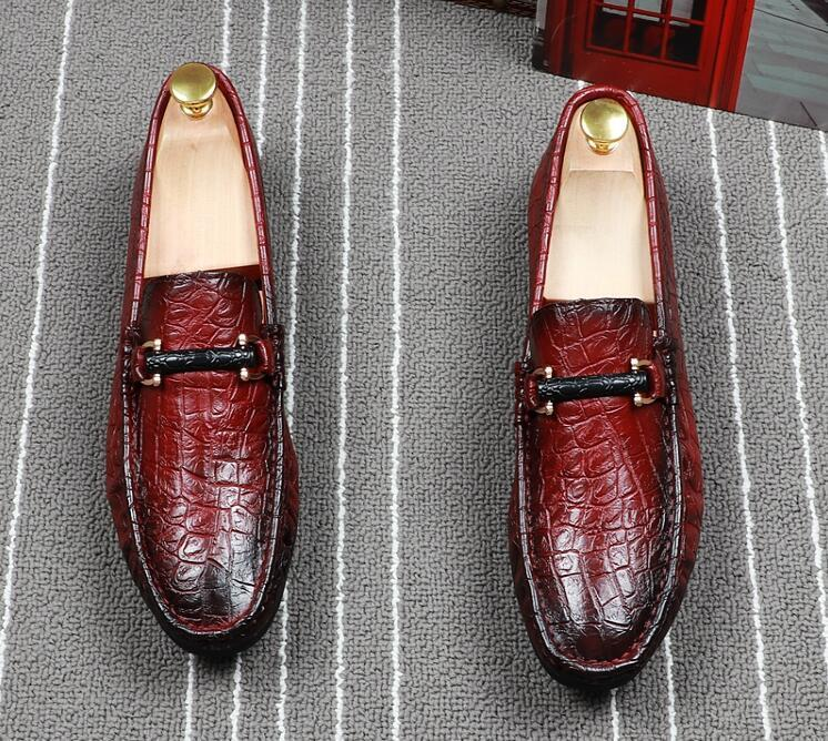 Men luxury Designer British gentleman Driving flats  shoes