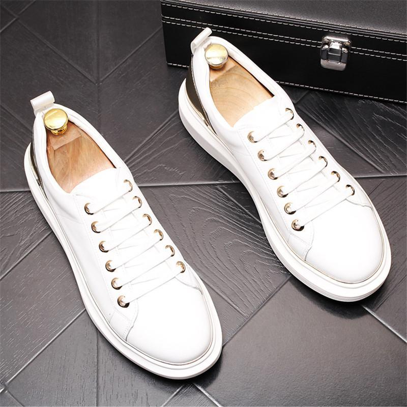 New popular Men's Designer Cute white Shoes