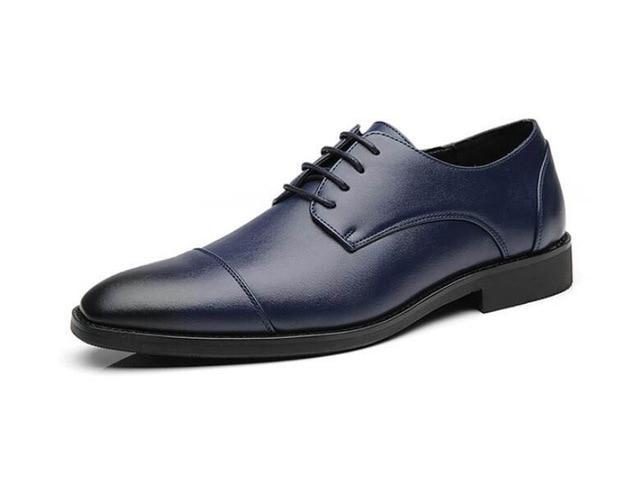 Retro Men pointed gentlemen Leather Shoes Male British Dress wedding  Homecoming Footwear