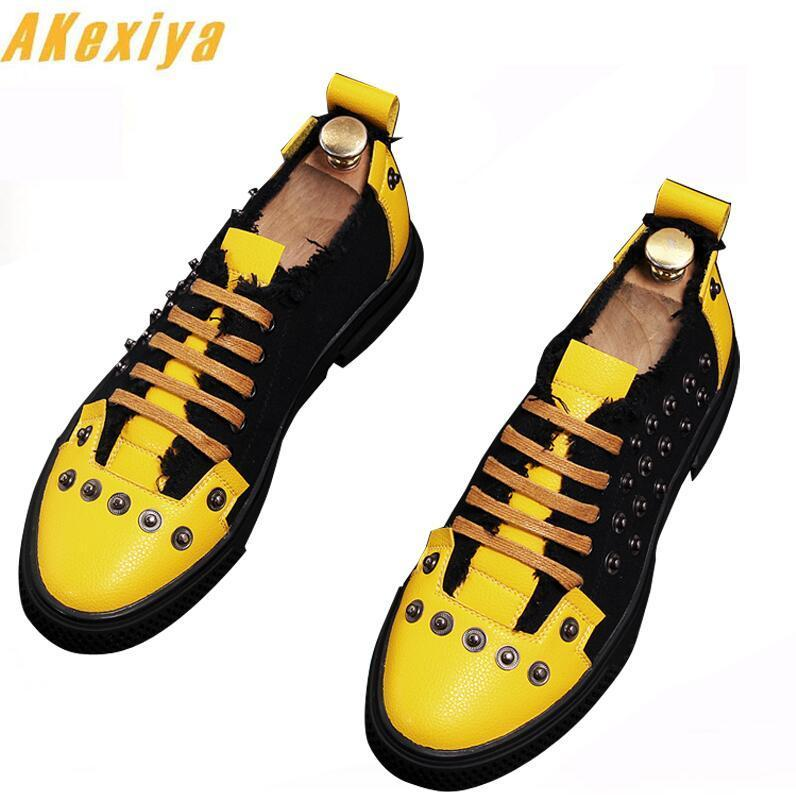 Street trendsetter lace-up rivet Casual shoes