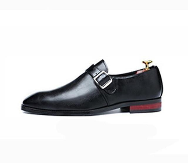 British New designer men's buckle style dress slip-on Boat shoes