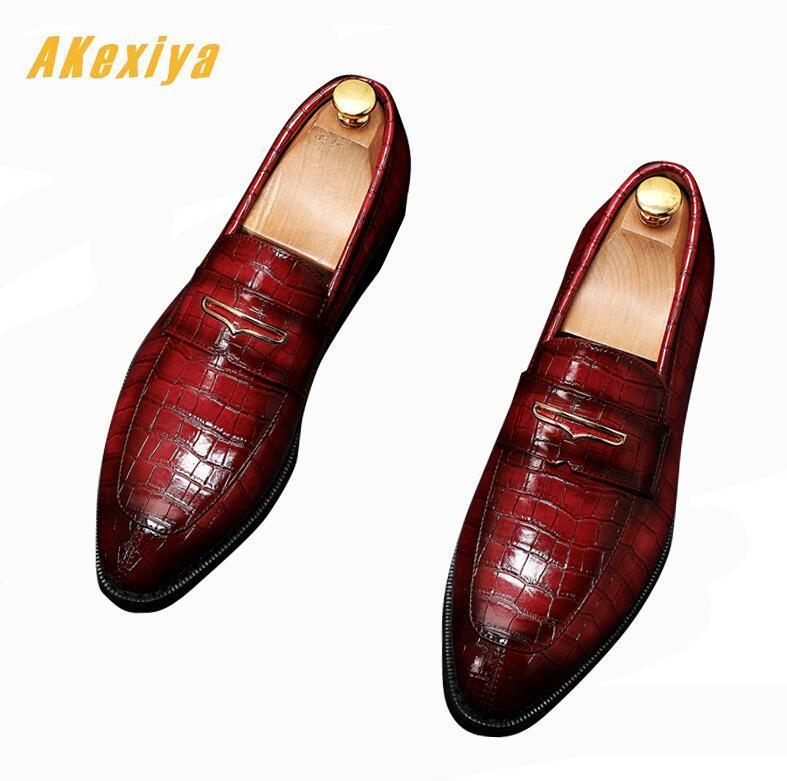 British designer pointed crocodile print oxfords shoes