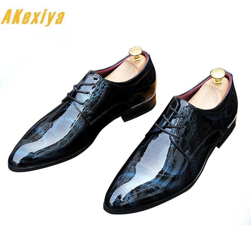 British designer pointed print lace-up oxfords shoes