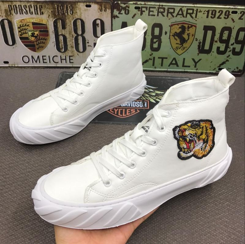 Men's Designer embroidery tiger high tops Shoes