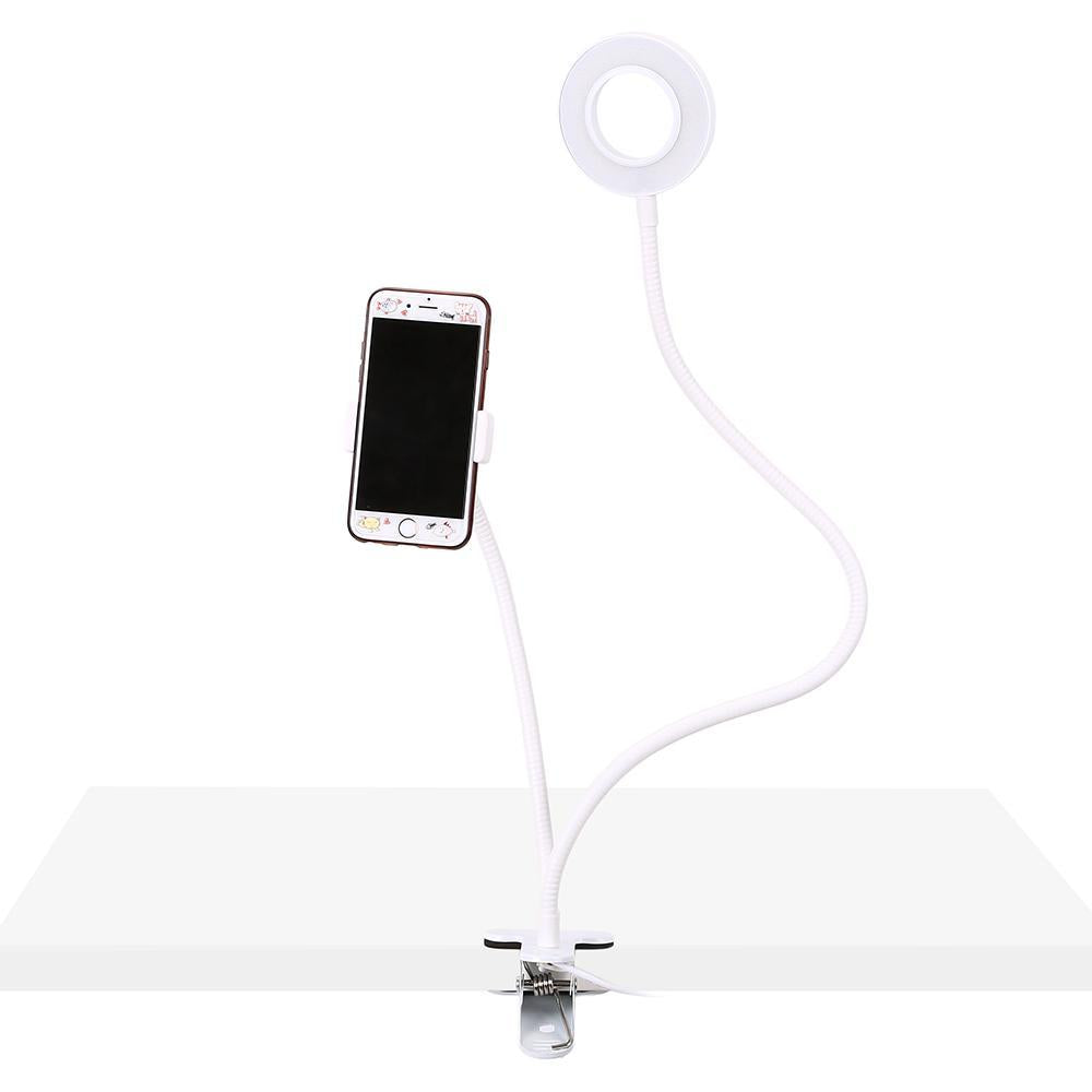 Phone Holder with Selfie Ring Light