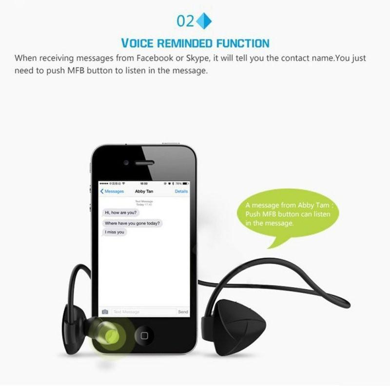New Wireless Bluetooth Stereo Handsfree Headset Earphones for Xiaomi Samsung iPhone 7 NFC