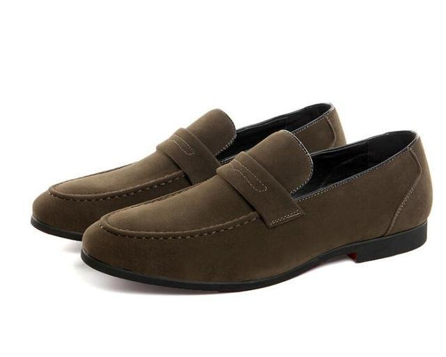Men luxury Designer gentleman suede Oxfords Slip-On flats Shoes