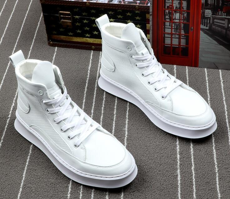 Men street Fashion Punk hip-hop yellow white high tops Loafers Casual Flats Shoes