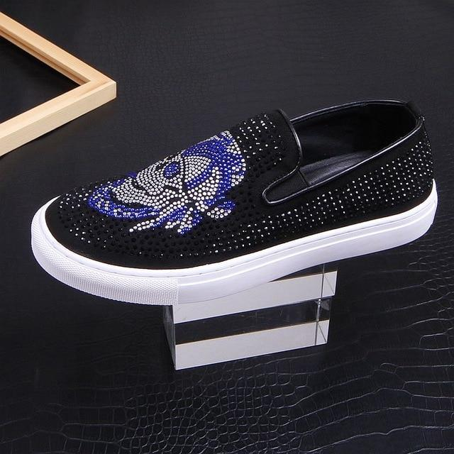 Men streets fashion rhinestone pirates Causal flats platform Shoes