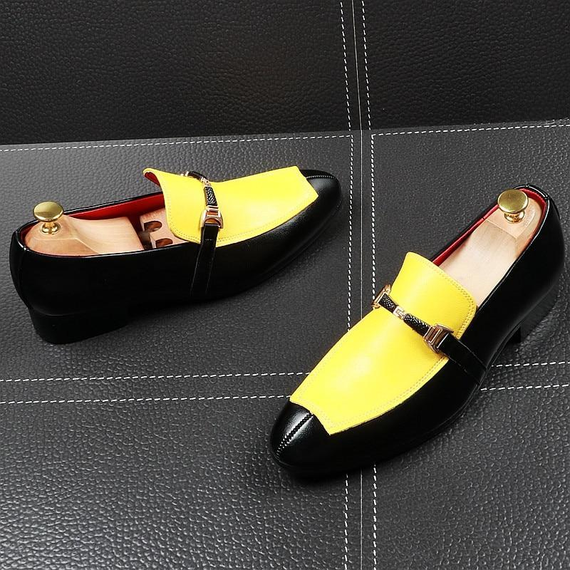 New Pointed toe mixed colors  Flats  yellow red Shoes