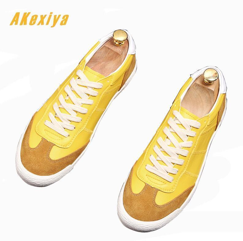 New Spring Men comfortable Slip-on Loafers yellow Mixed colors Casual Flats Shoes