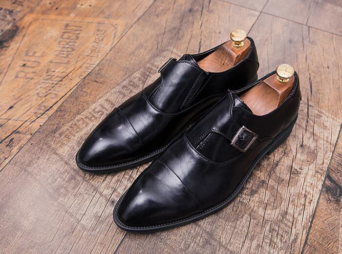 New arrival Men pointed Designer style Leather Shoes