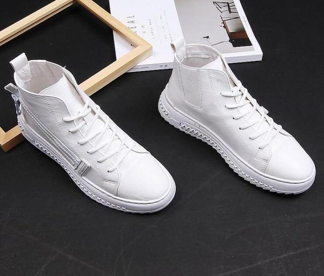 New trendsetter Casual Shoes For Man flats loafers Mens white black color platform Men